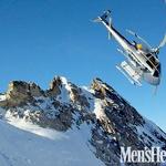 Leteli smo tako blizu gorskih grebenov, da se je zdelo, da bi lahko na vsakem od njih vsak trenutek izstopili. (foto: Marko Bleiweis in Tomaž Kete)
