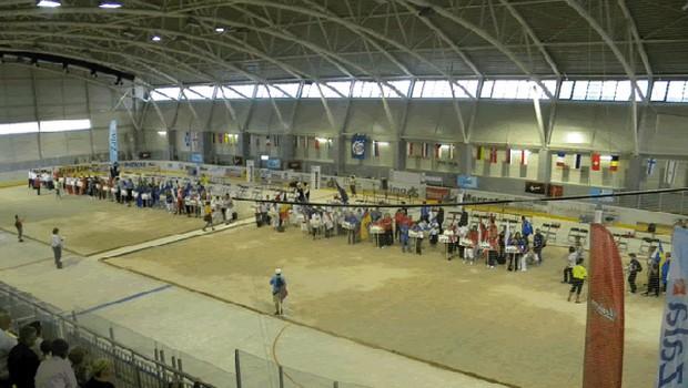 Novo hokejsko dvorano v Zalogu so zasedli petankarji. (foto: promocijsko)