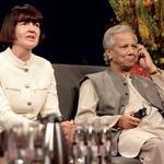 Sodelovala sta tudi Nobelova nagrajenca prof. dr. Lučka Kajfež Bogataj in prof. Muhammad Yunus.  (foto: Arhiv revije Lisa)
