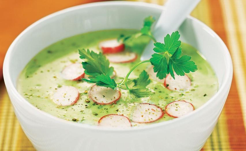 Kremna juha iz krompirja in redkvice