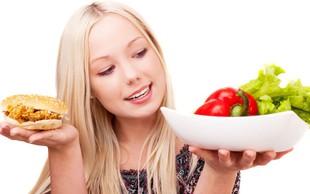 Ne zmanjšajte količine hrane! Ampak ...