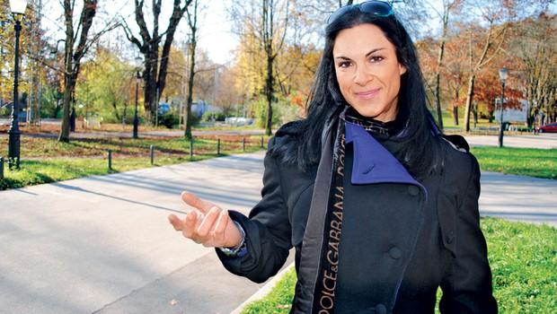 Eva Pogačnik:  Misica po Schwarzeneggerjevem okusu (foto: Marija Kač, osebni arhiv)