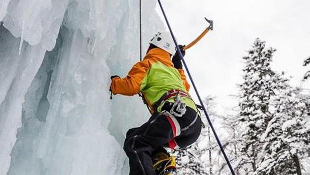 Foto utrinki: Ledeno plezanje v družbi Larrya Fitzgeralda (foto: Anže Čokl)