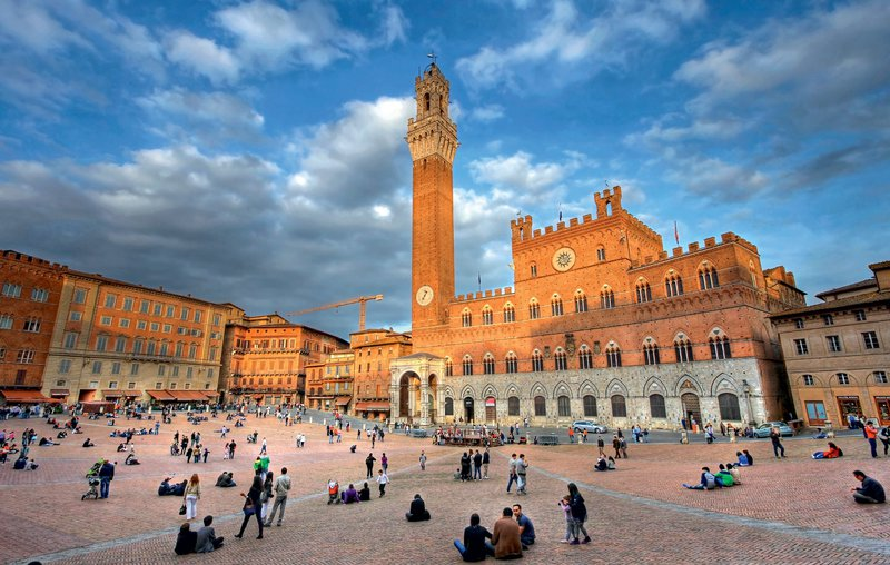 Piazza del Campo, Siena, Italija
