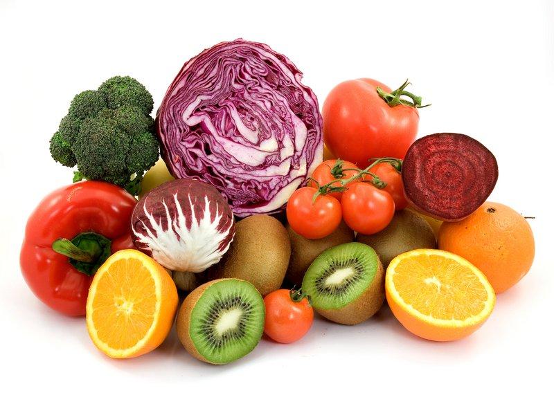 Veliko zelenjave in sadja