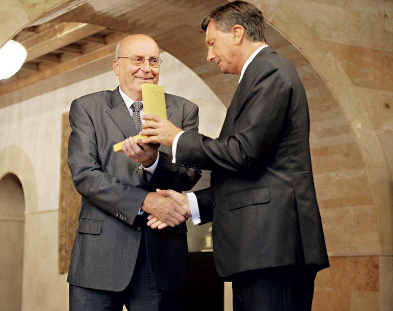 Ivo Daneu in predsednik Borut Pahor