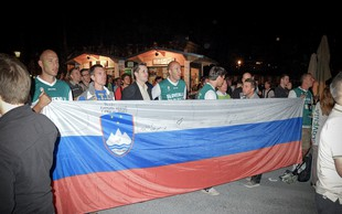Foto: Kako smo tekmo SLO:ŠPA spremljali v Ljubljani
