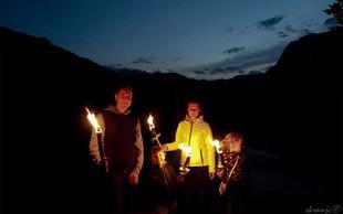 Nočni kanu izlet in pohod z baklami okoli Bohinjskega jezera