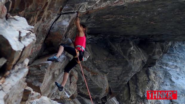 Mlada Brooke Raboutout podira plezalske rekorde (foto: THNKR @ YouTube)