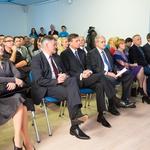 Otvoritvena slovesnost – na sredini sta predsednik RS Borut Pahor in direktor RC IKTS Žalec Janez Uplaznik (na levi strani predsednika) (foto: @life)