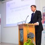 Predsednik RS Borut Pahor med svojim govorom na prireditvi (foto: @life)