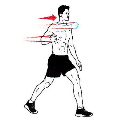 Enoročni potisk v razkoraku z elastiko