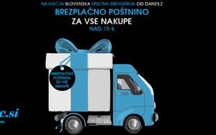 Največja slovenska spletna drogerija zdaj brez poštnine!