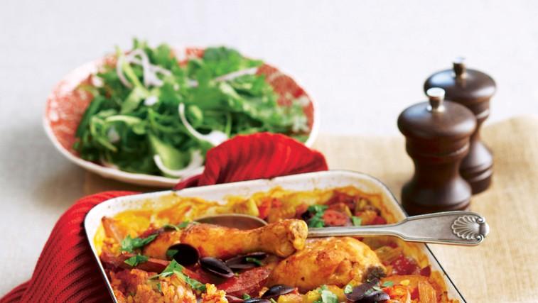 Piščančja paella iz pečice (foto: stockfood photo)