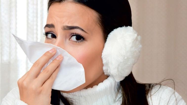 Boleč nos - zvesti spremljevalec prehladov (foto: Shutterstock.com)