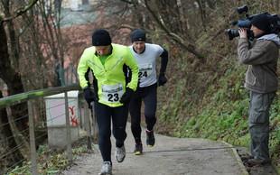 Foto utrinki s 1. novoletnega teka na Ljubljanski grad