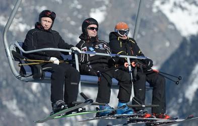 Vladimir Putin testiral snežne strmine v Sočiju