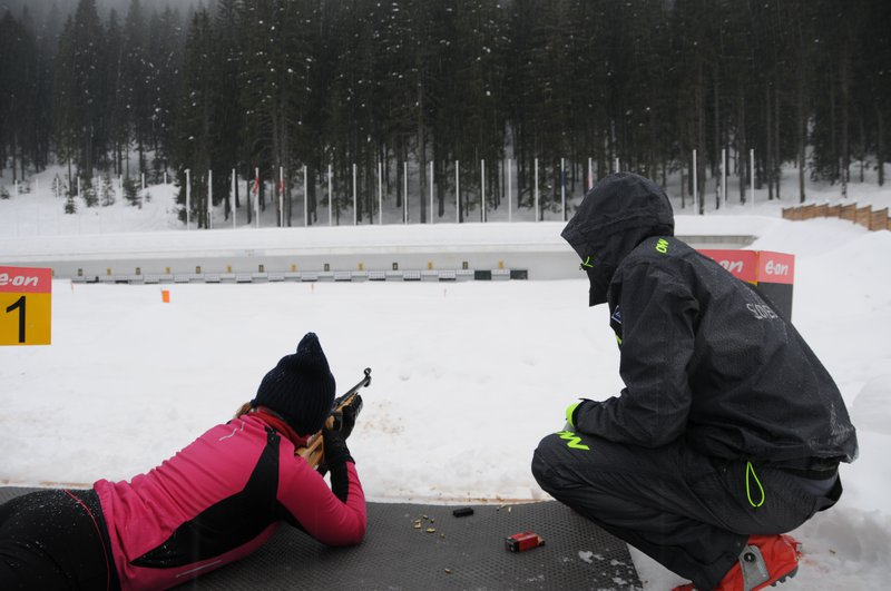 Aktivni vikend Pokljuka, feburar 2014, biatlonsko streljanje