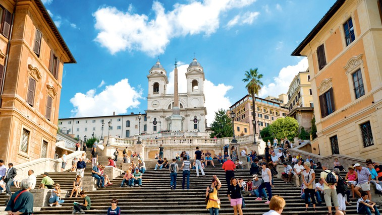 Španske stopnice, Rim, Italija (foto: revija Lisa)