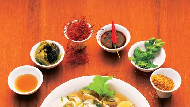 Tajska juha z riževimi rezanci (foto: jahresve)