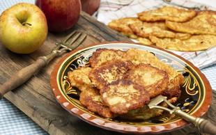 Recept: Krompirjeve palačinke s hrenom in solato iz jabolk