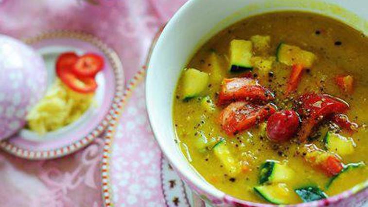 Recept: Indijski dal in poširan piščanec (foto: Osebni arhiv)
