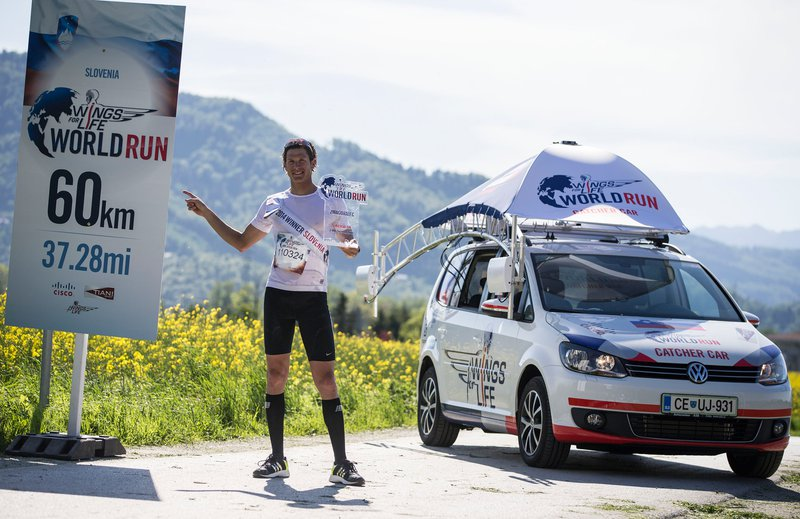 David Pleše, zmagovalec Wings for Life World Run 2014