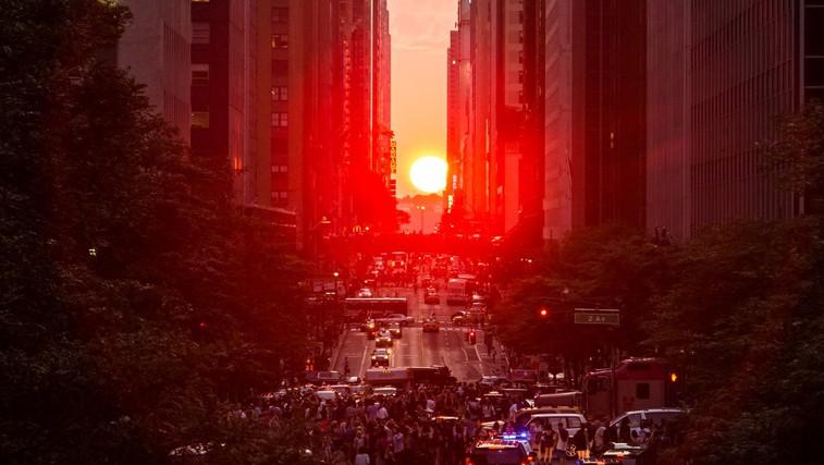 Sončni zahod na ulicah New Yorka (foto: profimedia)