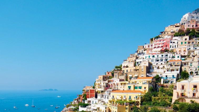 Italijanska obala Amalfi je ena najlepših na svetu (foto: Revija Moje Stanovanje)