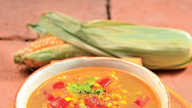 Lahka koruzna juha (foto: revija Čarovnija Okusa)