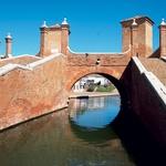 Trepponti (1638) ali Trije mostovi, ki jih je zgradil Giovanni Pietro da Lugano po načrtu Luce Danese iz Ravene.  (foto: Tina Lucu)