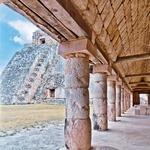 Kamniti spomenik poznega obdobja Majev je znak propada Chichen Itza, zdaj znamenje svetovne dediščine, na polotoku Jukatan. (foto: fotolia)