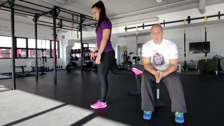 Vaja za ravnotežje, moč stegenskih mišic in jedra