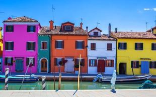 Otoček Burano, vas bo očaral z barvami