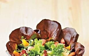 Solata z gorgonzolo in krešo