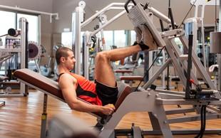 Precenjena ali učinkovita vaja: Potisk z nogami na trenažerju