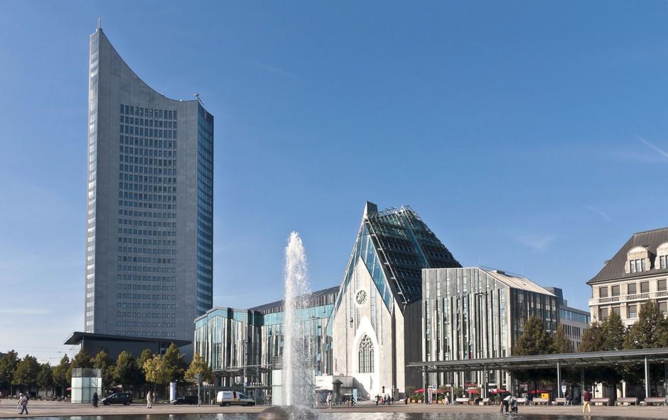 Uniriese in Paulinum na trgu Augustusplatz,  enem izmed največjih v Nemčiji. (foto: Revija Moje stanovanje)