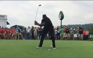 Shaquille O'Neal je na golf turnirju poskrbel za pravo komedijo