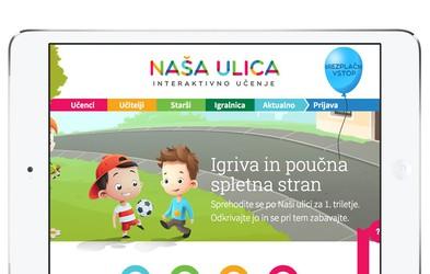 Nova poučna spletna stran za prvošolce - Naša ulica