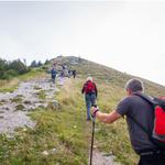 Še zadnji vzpon na sam vrh Blegoša.   (foto: Alpina Žiri)