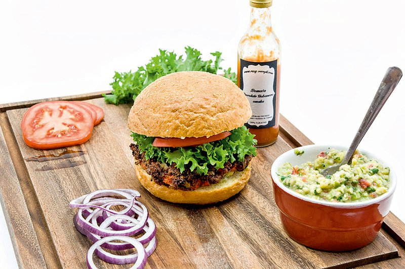 Veganski mehiški burger