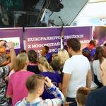 Nogometni zvezdi so v Europarku z navdušenjem pričakali številni navijači. (foto: Europark Maribor)
