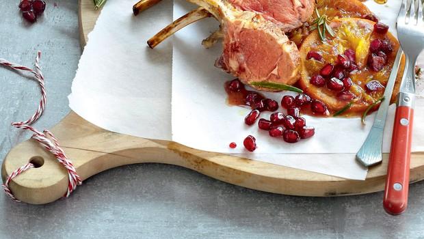 Jagnjetina s sirupom iz pomaranč in granatnih jabolk (foto: revija Čarovnija okusa)