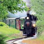 Popotniška romantika z železnico Bistriške doline, ki se skozi slikovito pokrajino vije od Weiza do Birkfelda. (foto: Revija Moje stanovanje)