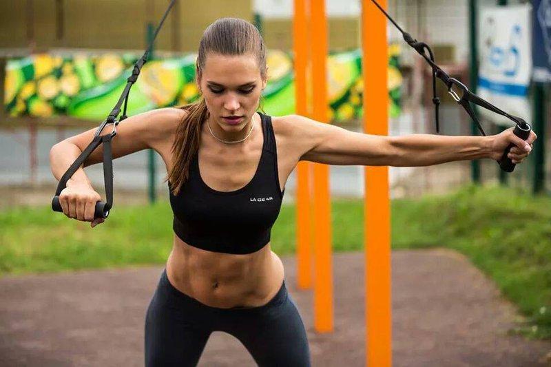 Nives Orešnik med treningom
