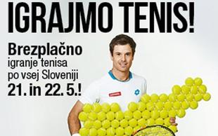 »IGRAJMO TENIS!« po vsej Sloveniji