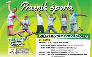 Preživite svetovni dan športa v družbi priznanih predavateljev in praktikov športne stroke!