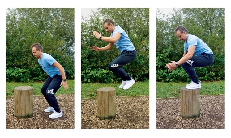 SONOŽNI POSKOK Pazite, da je odriv s celih stopal, stisnite trebušne mišice, kolena dvignite visoko pred sebe in skočite. Zaradi …