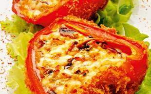 Polnjena paprika - z aromatičnim karijevim piščancem