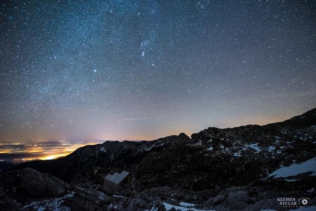 Hotel pod tisočimi zvezdami - razgled z bivaka pod Skuto
